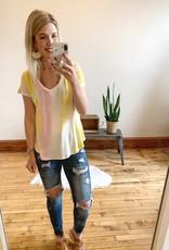 Pink + Yellow Tie Dye Top