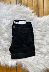 Nora Black Denim Shorts