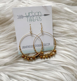 Stone Bead Drop Earrings