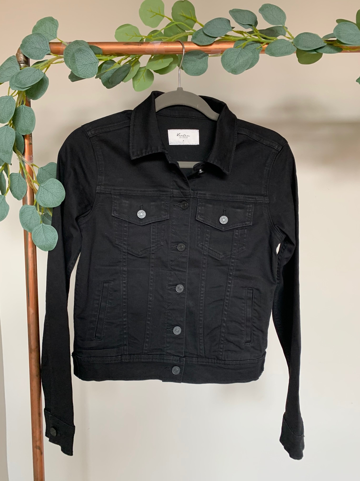 Jess Black Denim Jacket