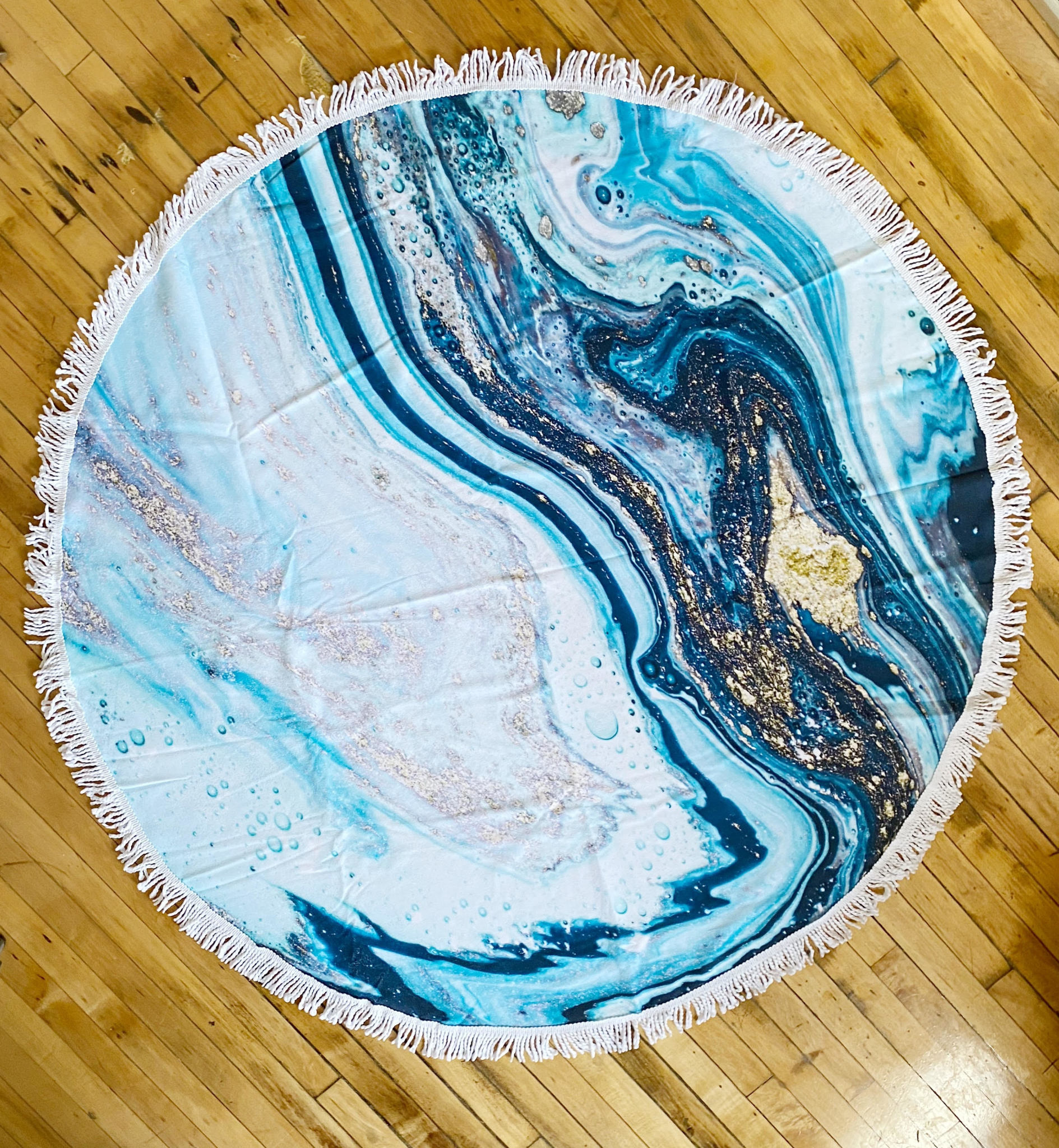Blue Marble Beach Towel