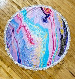 Purple Galaxy Beach Towel