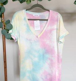 Cotton Candy Tie Dye Top