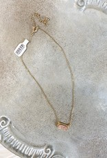 Gold Champagne Druzy Necklace