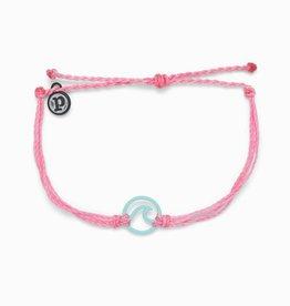 Pink Enamel Wave Charm Bracelet