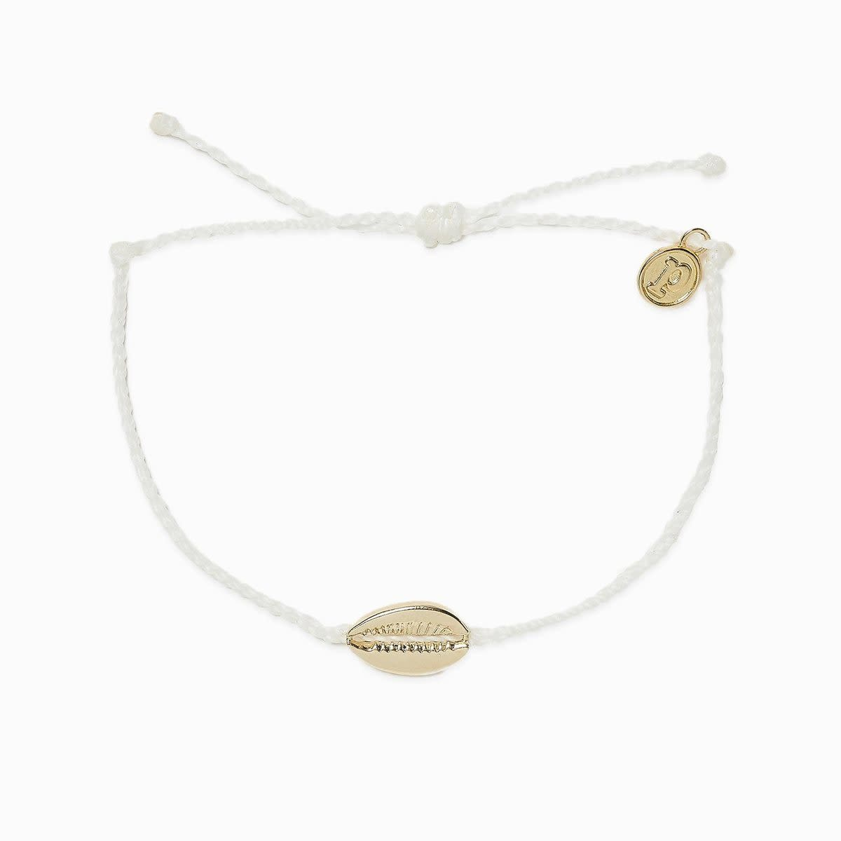 PuraVida Cowrie White Charm Bracelet