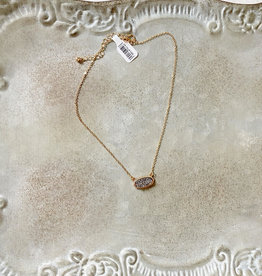 Hematite Druzy Necklace