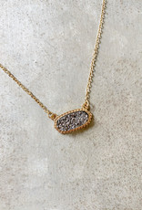 Hematite Druzy Necklace