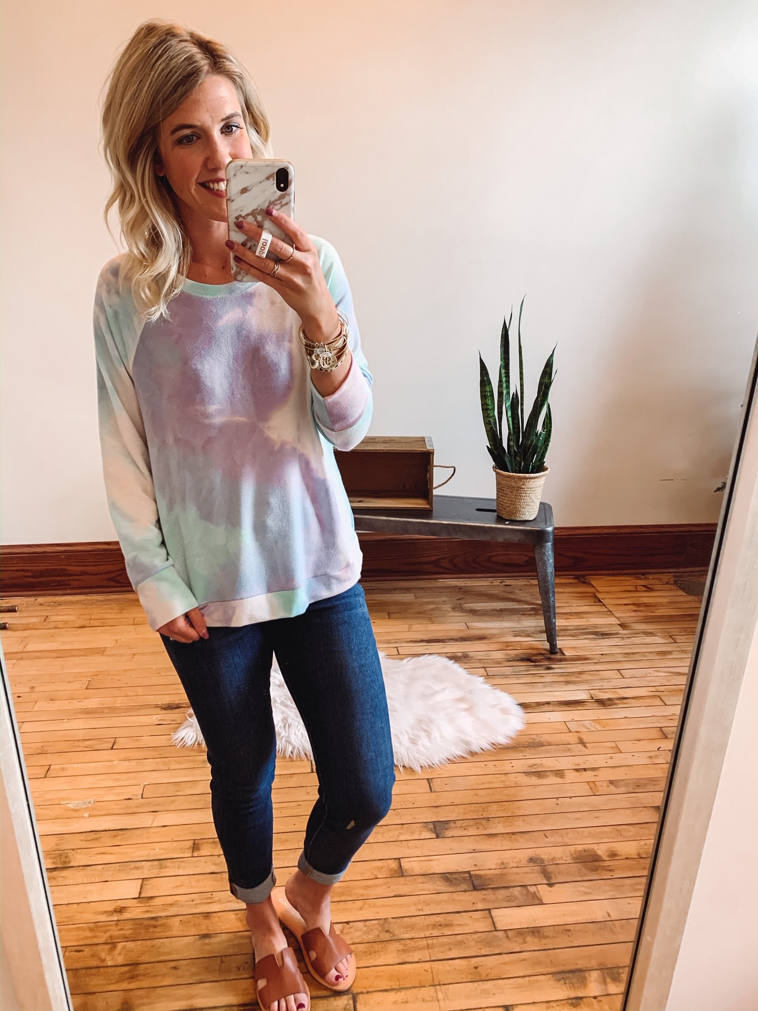 Purple + Mint Tie Dye Sweatshirt