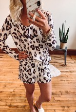 Elise Leopard PJ Set