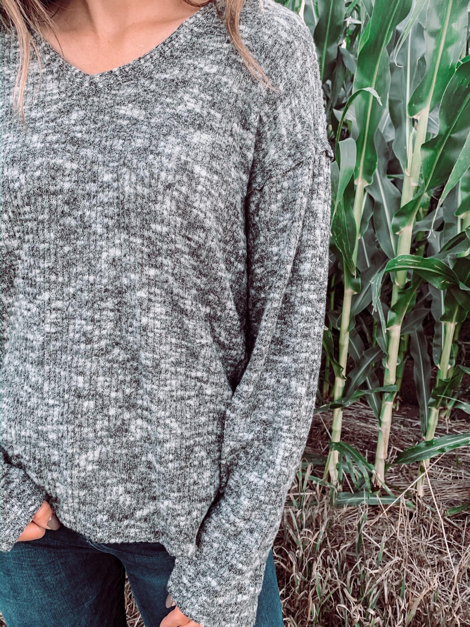 Hadley Charcoal Sweater