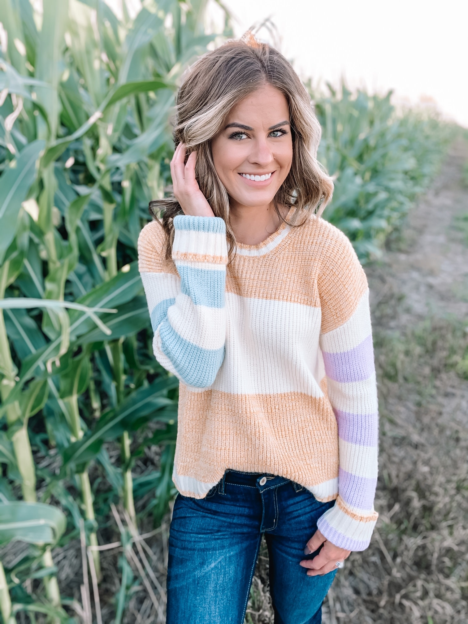 Molly Mustard Colorblock Sweater