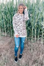 Animal Print Sweater Hoodie