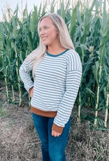 Emily Contrast Striped Pullover