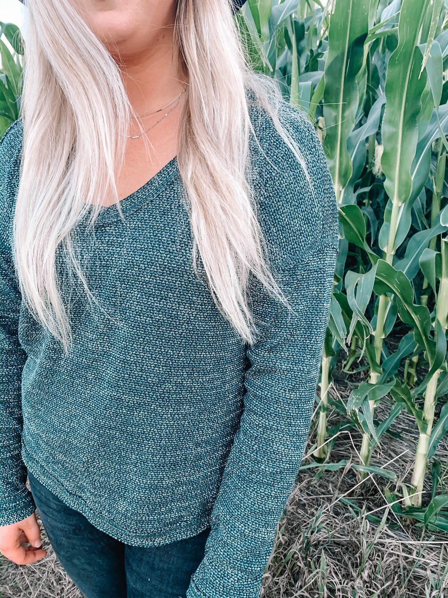 Alysha Green Knit Sweater