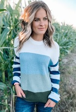 Navy Colorblock Sweater