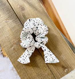 Spotted Leaf Bow Scrunchie