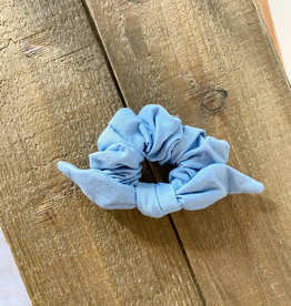 Light Denim Bow Scrunchie