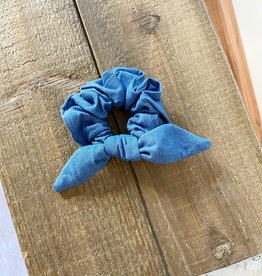 Denim Bow Scrunchie
