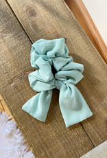 Sea Green Bow Scrunchie