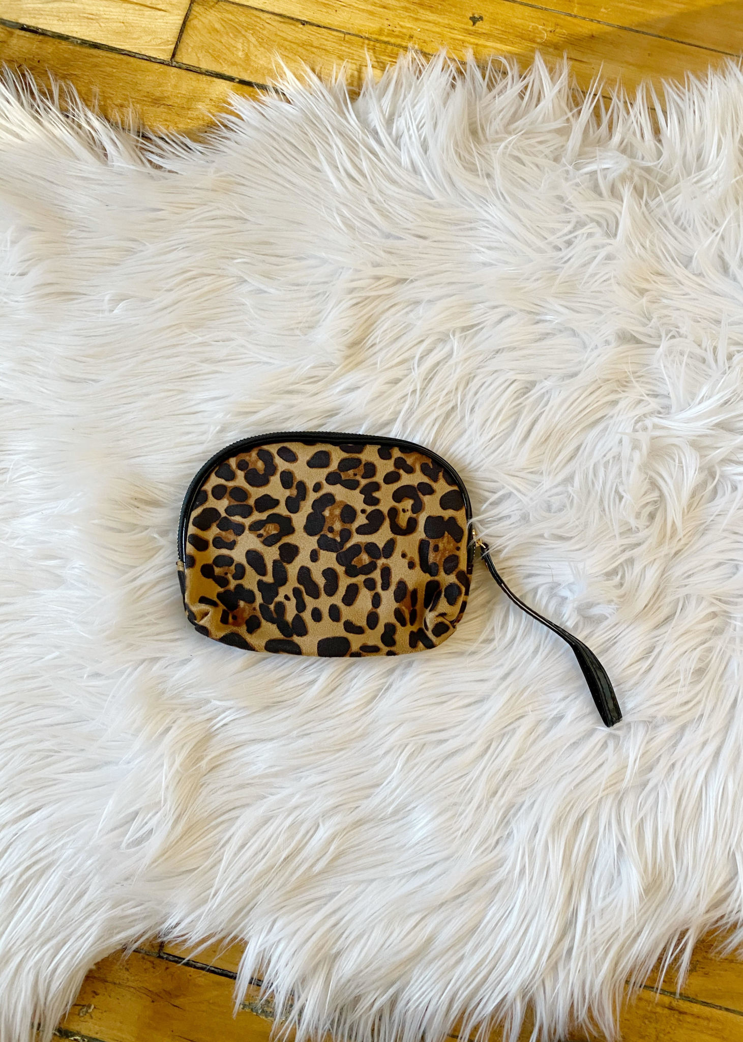 Leopard Round Cosmetic Bag