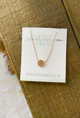 Rose Gold Paw Crystal Necklace