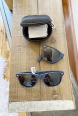 Navy Foldable Sunglasses + Case