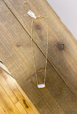 Oval Marble Dainty Necklace