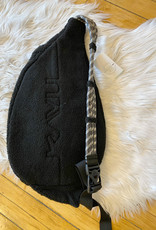 Black Fleece Rope Bag