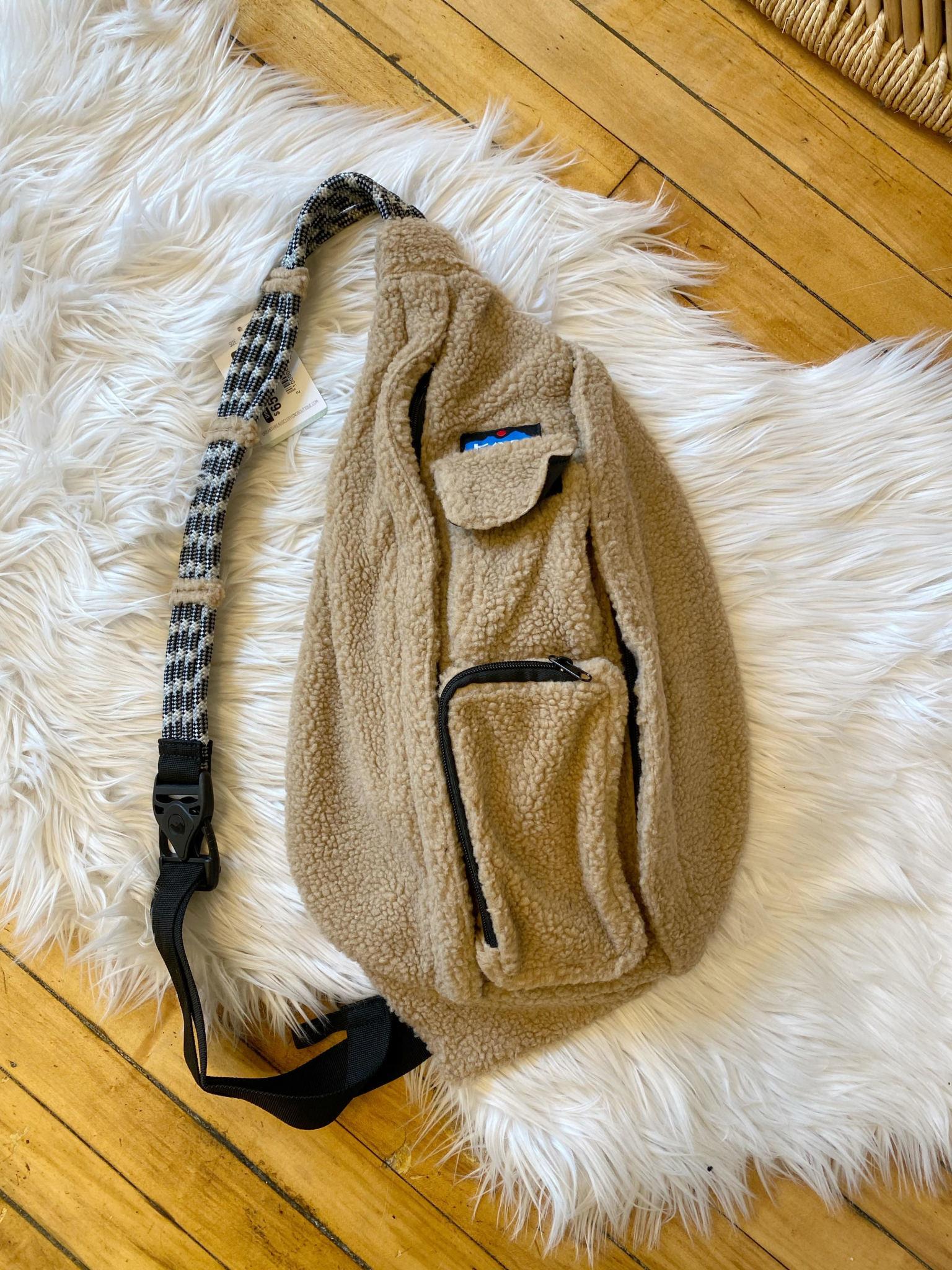Teddy Fleece Rope Bag