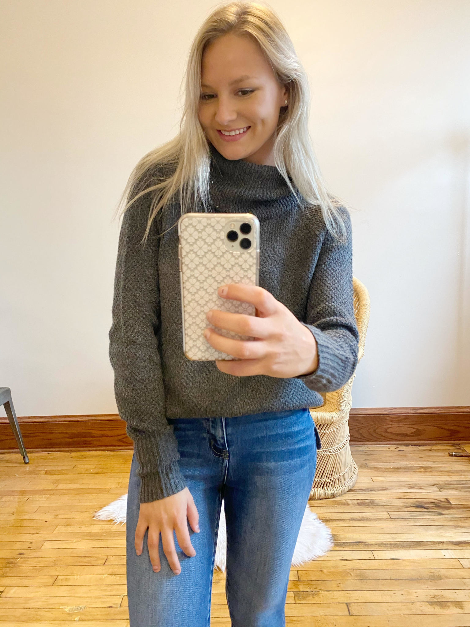Elise Charcoal Turtleneck