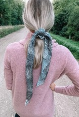 White Spotted Tail Scrunchie