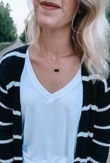 Black Druzy Necklace