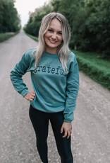 Grateful Crew Neck Sweatshirt