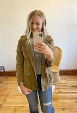 Nora Olive Utility Jacket