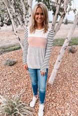 Alyssa Blush Colorblock Top