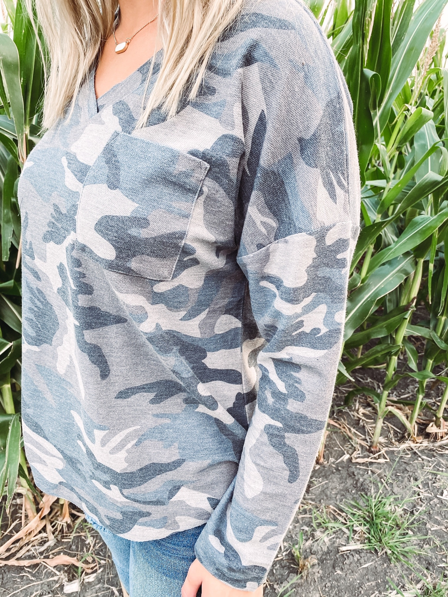 Kylie Camo Print Long Sleeve
