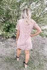 Misty Pink Lace Dress
