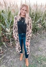 Leopard One Size Cardigan