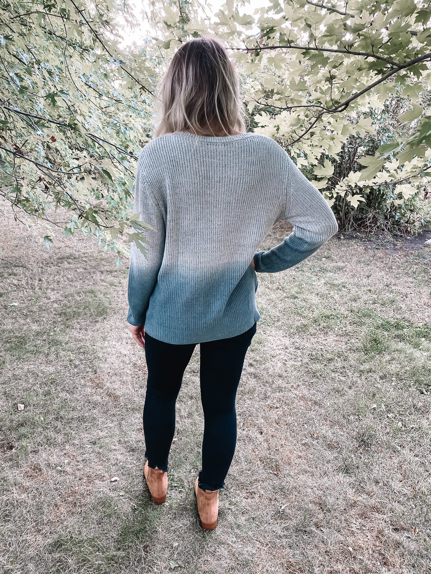 Kylie Ombre Pocket Sweater