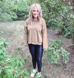 Olive Washed Out Sweatshirt