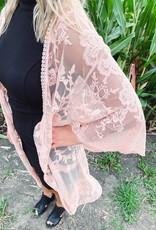 Luna Blush Lace Kimono