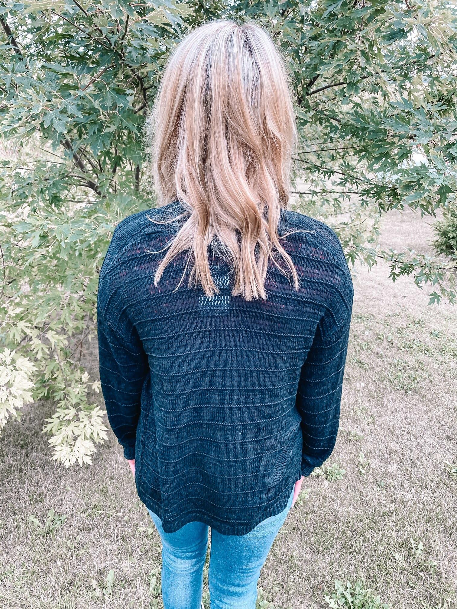 Lyla Black Knit Cardigan