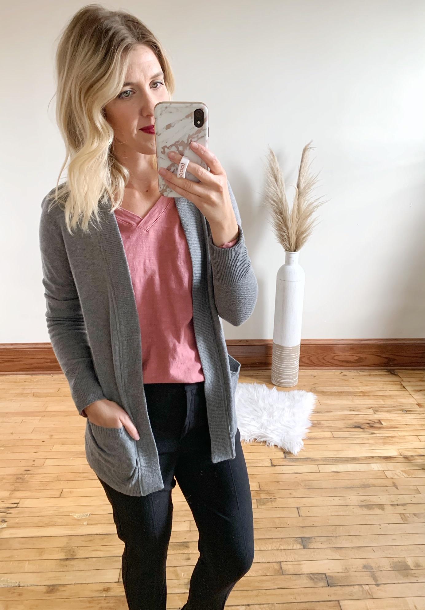 Natalia Grey Cardigan