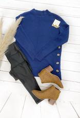 Gemma Side Button Sweater