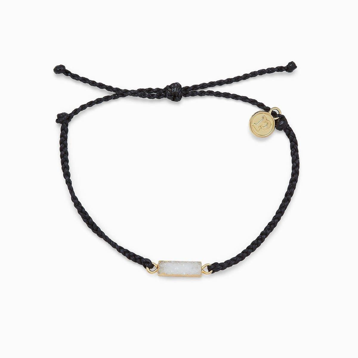 Black Druzy Charm Bracelet
