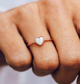 PuraVida Heart of Pearl Ring