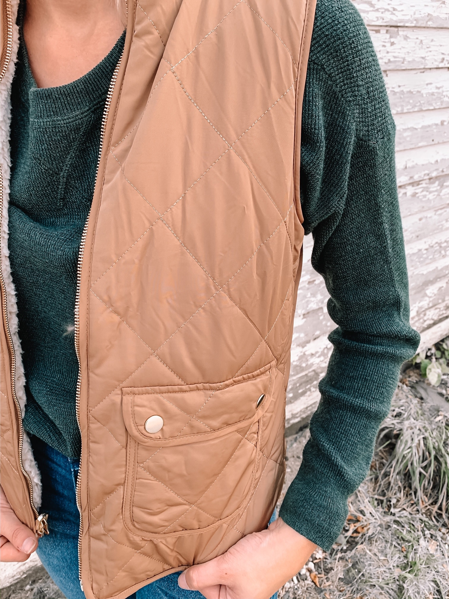 Taupe Vail Vest