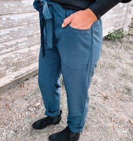 Gina Plaid Tie Pants