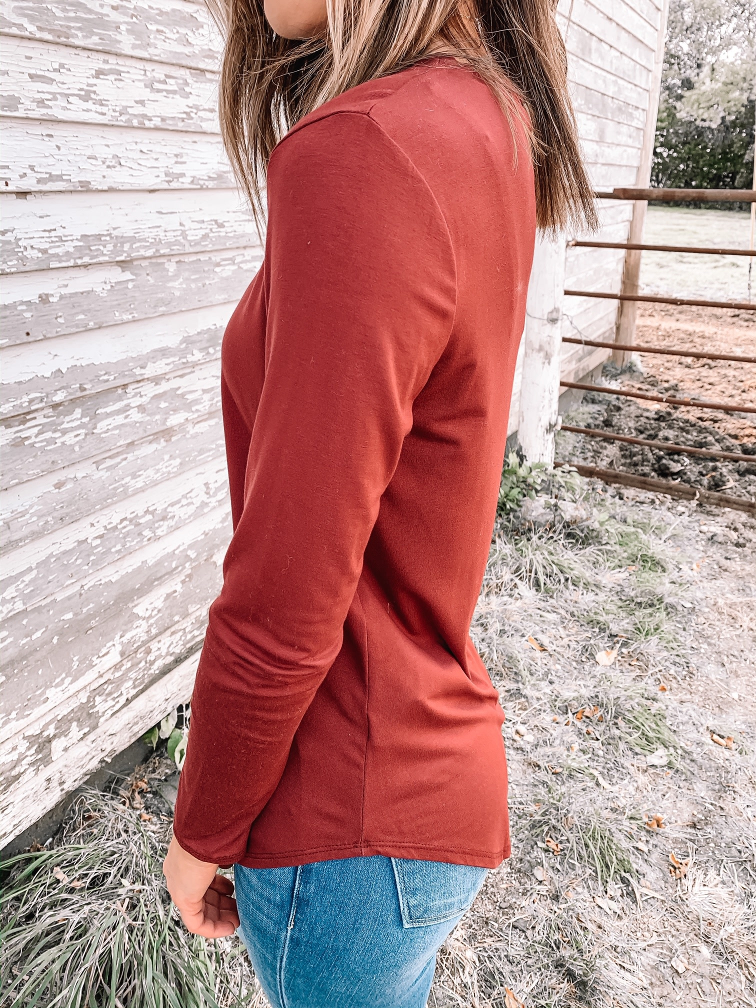Ellie Wine Long Sleeve